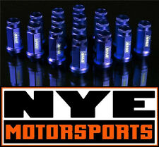 BLACKWORKS RACING BWR FORGED ALUMINUM EXTENDED LUG NUTS 12x1.5 BLUE QTY. 16