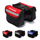 Bicycle Bike Double Pannier Mountain Frame Front Tube Mobile Holder Bag Pouch