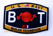 BOILER TECHNICIAN BT RATING HAT PATCH USS PIN UP USN ENLISTED CHIEF US NAVY WOW