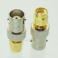 1pce Adapter BNC female jack to SMA male plug RF connector straight