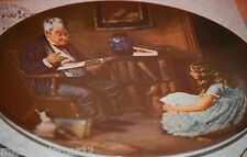 """""""The Storyteller"""" 1984 """"Heritage Series"""" Collectors Plate by Norman Rockwell"""