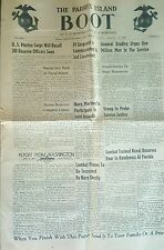 Vintage September 11 1948 The Parris Island boot newspaper USMC Marine Corps