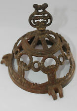 Cast iron lid Metal Upcycle Steampunk Openwork Elaborate  Unusual 12cm diam B46