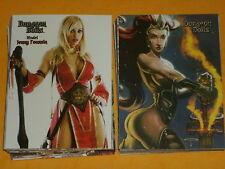 """Dungeon Bambole """"Fantasy Art"""" Base Set di 50 FIGURINE Bad Axe/axebone carte"""