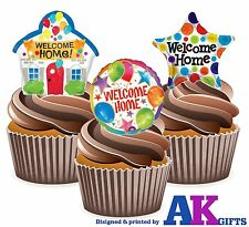 Colourful Welcome Home Balloon Mix - 12 Edible Cup Cake Toppers Decorations