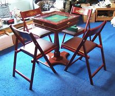 Franklin Mint Monopoly Collector's Edition Luxury Board Game, Stand & 4 Chairs