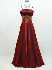 Cherlone Plus Size Red Ballgown Bridesmaid Wedding Formal Evening Dress 16-18