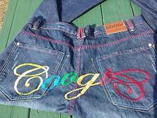 Men's Coogi Embroidered Denim Blue Jeans Pants Size 40 X 34