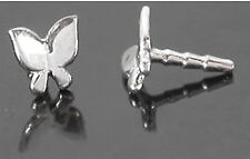 14kt White Gold Butterfly For BioPlastic Nose Screw Stem or Labret BioPlast
