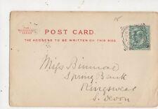 Miss Binmore Spring Bank Kingswear Devon 1902 543a