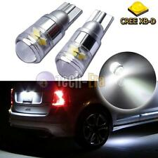 2 White High Power CREE 3535-SMD T10 168 2825 LED Bulbs For License Plate Lights