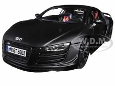 AUDI R8 GT MATT BLACK 1/18 DIECAST MODEL CAR BY MAISTO 36190