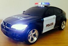 BMW X6 POLICE RECHARGEABLE Radio Remote Control Car SIREN LIGHTS 1.18 FAST AUDI