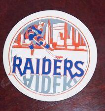 Decals / Sticker  WHA Raiders logo  1970's