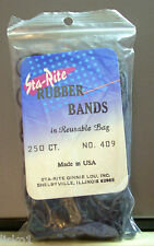 Sta-Rite #409 Black Hair Pony tail Rubber bands,  250 ct.   LMS