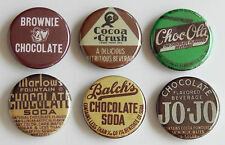 Chocolate Soda FRIDGE MAGNET Set (1.25 inches each) sign milk crush