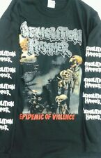 DEMOLITION HAMMER-SHIRT EPIDEMIC OF VIOLENCE MALEVOLENT CREATION ASPHYX