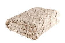 """Handmade Honeycomb Style 100% Merino Wool 45""""x67"""" Throw Blanket Made in Ireland"""