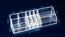 15 Compartment Cosmetic Organiser Clear Acrylic Make Up HolderJewellery Storage