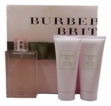 BRIT SHEER BY BURBERRY 3 PIECE GIFT SET WITH EAU DE TOILETTE SPRAY 100 ML (D)
