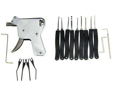 SET Manual Opening Gun Tool Training + 10 Lock Pick Key Locksmith +12 GUIDES US