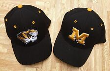 Missouri Tigers Mizzou Zephyr Hat Set of 2 ~ Men's M / L ~ Black NCAA Football