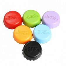 Eccesso di requisiti! Set di 6 SILICONE BEER BOTTLE CAPS BRAND NEW