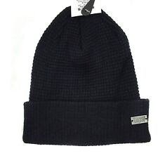 Levi's Men's Waffle Knitted Cuffed Skull Beanie Cap Hat Black