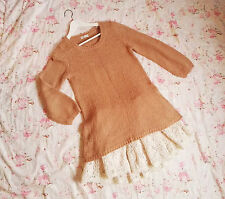 ~ Earth Music Ecology ~ Sweater gyaru japón Lolita tunic vintage retro mohair
