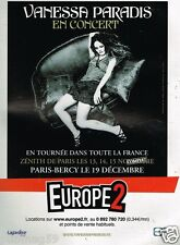 Publicité advertising 2007 Concert Vanessa Paradis avec Radio Europe 2