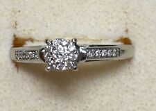 1/4 ctw natural (REAL) DIAMOND ENGAGEMENT ring SOLID white GOLD
