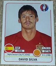 368 David Silva SPAIN ESPANA Panini Euro 2016 France sticker