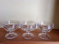 5 vintage glass pedestal ice cream sherbert dishes bowls Federal glass