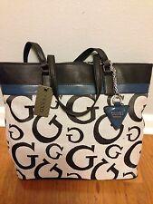 Guess Purse Ingrid Logo Large Jacquard Tote Grey  Shoulder Bag