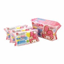 NEW My Melody 99.9% water wet tissue × 3 pieces Made in Japan