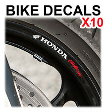 10X HONDA FIREBLADE CBR MOTORCYCLE BIKE WHEEL STICKERS DECALS TAPE RIMS