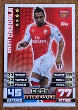 MATCH ATTAX 2014 2015 football card Arsenal SANTI CAZORLA Midfielder