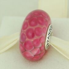 Authentic Pandora 790902 XL Pink Exotic Murano Glass Sterling Silver Bead Charm