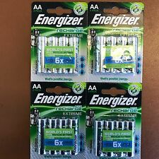 16 x Energizer AA EXTREME Rechargeable Batteries 2300 mAh Pre Charged NiMH LR6