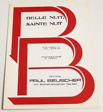 Partition sheet music Chant de Noël Abbé J. MOHR (1918): Belle Nuit, Sainte Nuit