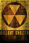 Fallout Shelter Nuclear Retro vintage Rusted Metal Sign