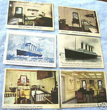 6 RMS TITANIC Card Photos Vintage Antique Old Ship Retro Boat Art Illustration