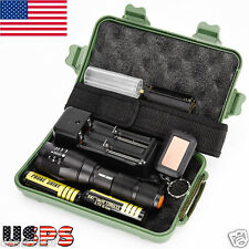 G700 X800 LED 5 Modes Zoom Military Grade Tactical Flashlight Torch Light 18650