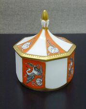 Negro castillo de porcelana lata art deco porcelain box boîte porcelaine