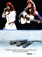 "1992 THE JUDDS Naomi & Wynonna photo ""Thank You"" Shure Beta Microphones print ad"