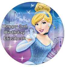 "Disney Princess Cinderella Personalised 7.5"" Cake Topper Edible Wafer Paper"