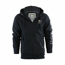 Mens Hoodie Crosshatch Ribbler Zip Up Hooded Jacket Pullover Jumper Sweatershirt