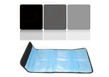 "3 filter kit Gradual ND2 ND4 ND8 100 x 100mm filter 4""x4""+6 slots case"