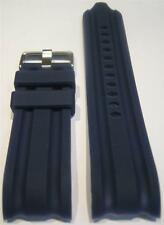 24 mm Blue Replacement Silicone Band Fit/Nautica Watch BFD 100 N15578G N15567G