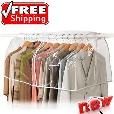 Clear Storage Garment Bag Closet Suit Vinyl Clothes Rack Cover Dust Protector